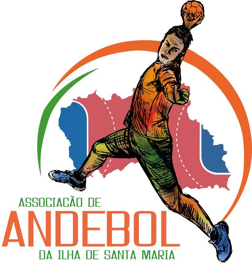 Logo Associação de Andebol da Ilha de Santa Maria