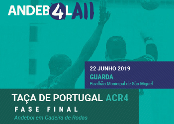 Cartaz - Fase Final da Taça de Portugal de ACR4 - Guarda, 22.06.19