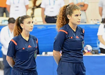 Sara Pinto e Flávia Santos - IHF Referees Summer Training Camp