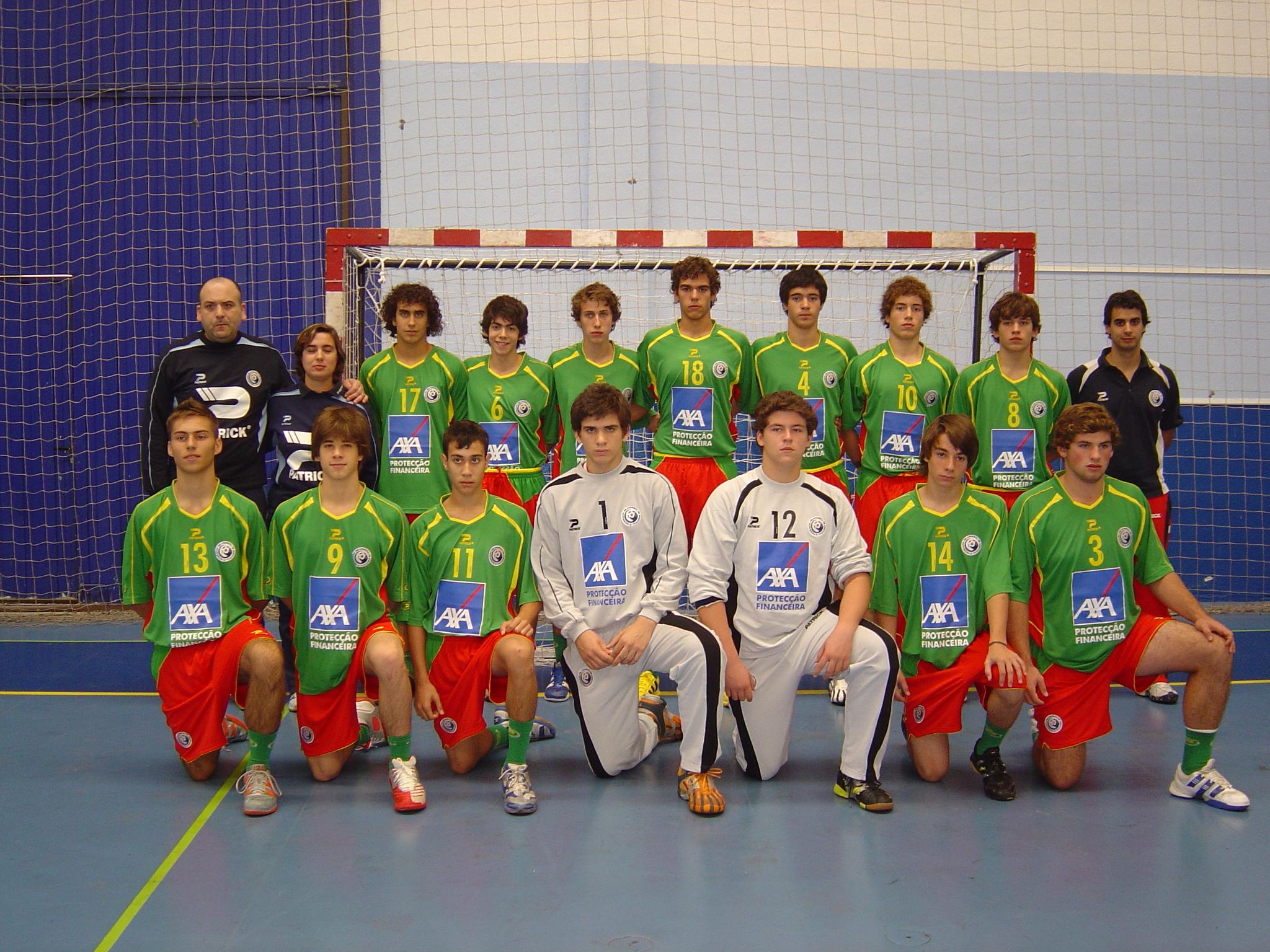Selecção Junior C masculina e equipa técnica 2007/08