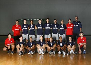 Selecção Nacional A Feminina e Equipa Técnica 2010-2011