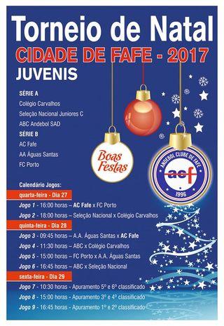 Cartaz Torneio de Natal Cidade de Fafe 2017
