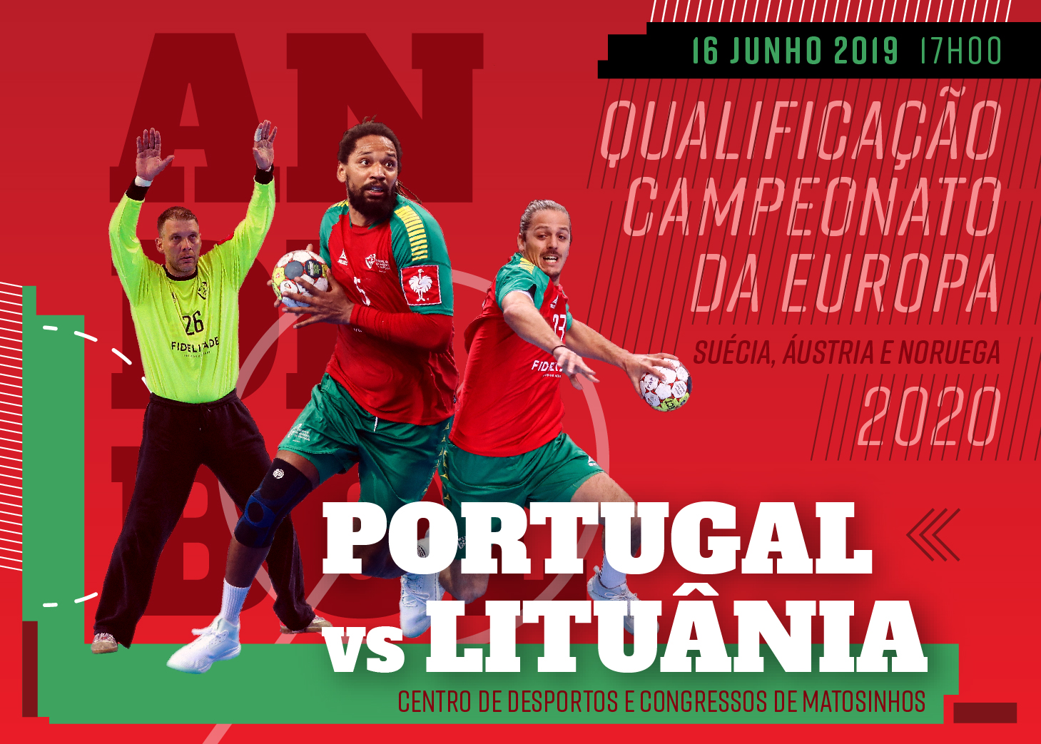 Cartaz Portugal : Lituânia - qualificação Campeonato da Europa 2020