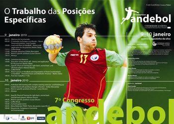 Cartaz 7º Congresso Técnico Andebol - 9 e 10 Janeiro 2010