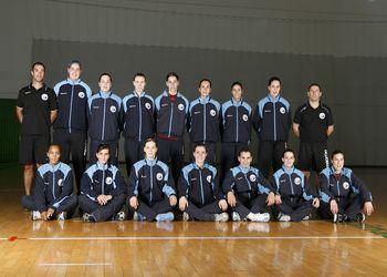 Selecção Nacional A feminina e equipa técnica - época 2009-10