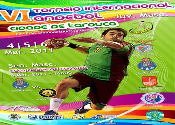 Cartaz VI Torneio Internacional Andebol Cidade Tarouca