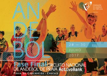 Cartaz - Fase Final do Circuito Nacional de Andebol de Praia ActivoBank