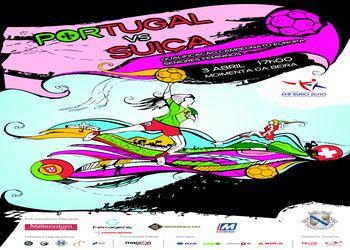 Cartaz Portugal : Suíça - 03.04.10, Moimenta da Beira - qualificação ECH Seniores Femininos