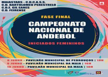 Cartaz Fase Final Campeonato Nacional Iniciados Femininos 2018/2019 - Maia