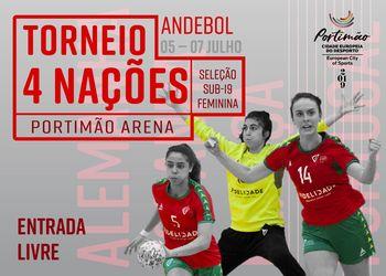 Cartaz - Torneio 4 Nações - 5 a 7 Julho 2019 - Portimão
