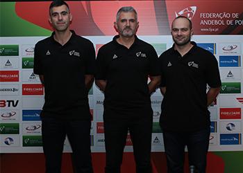 Paulo Pereira, Carlos Martingo e Telmo Ferreira - equipa técnica da Selecção Nacional A Masculina