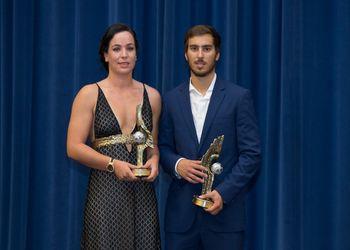 Ana Andrade e Pedro Seabra Marques - prémio Melhor Jogador - VI Gala do Andebol