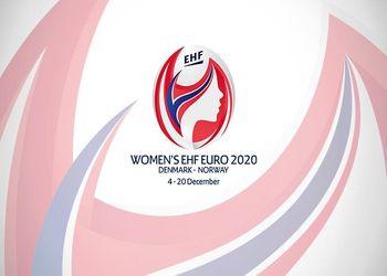 Logo Campeonato da Europa Seniores Femininos Dinamarca - Noruega 2020
