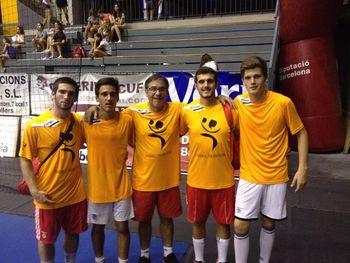 Treinador e jogadores do SL Benfica na equipa das estrelas do Granollers Cup 2015