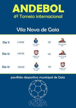 Cartaz IV Torneio Internacional de Andebol de Vila Nova de Gaia 2017