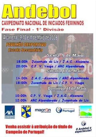 Cartaz FF CN 1ª Divisão Iniciados Femininos - Alcanena