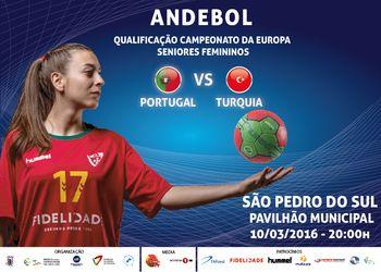Cartaz Portugal : Turquia - S. Pedro Sul, 10.03.16