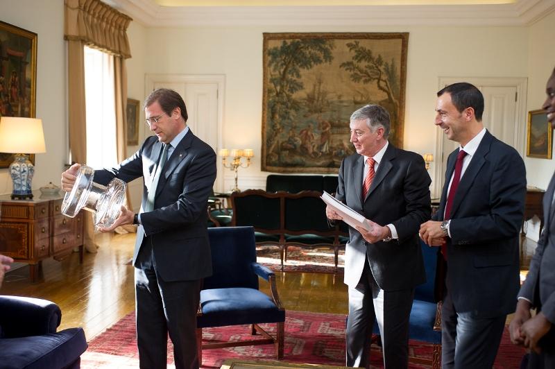 Direcção da FAP recebida no Gabinete do Primeiro Ministro Pedro Passos Coelho