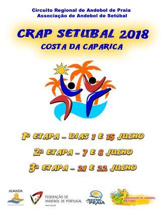 Cartaz Circuito Regional de Andebol de Praia de Setúbal - CRAP 2018