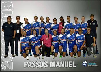 Plantel NAAL Passos Manuel 2014-2015 (F) - foto: Ricardo Rosado