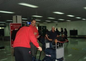 Seleção no Aeroporto de Sarajevo