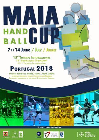 Cartaz Maia Handball Cup 2018 – 15º Torneio Internacional