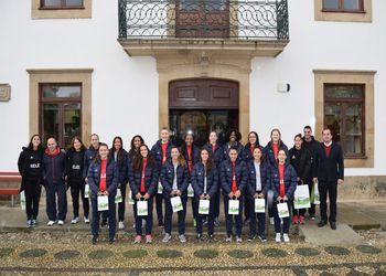 Juniores A Femininas - recepção na Câmara Municipal de Figueira de Castelo Rodrigo