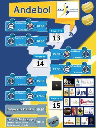 Cartaz XXVII Torneio Aniversário AA Madeira