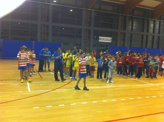 Cerimónia de encerramento do Campeonato Regional de Infantis Masculinos na Horta