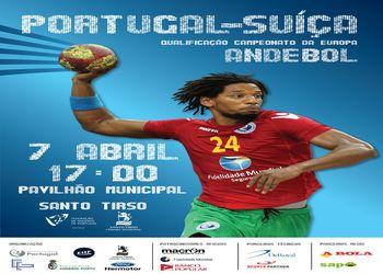Cartaz Portugal : Suíça - qualificação Euro 2014 - Santo Tirso, 07.04.13