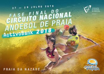 Cartaz - Fase Final do Campeonato Nacional de Andebol de Praia - ActivoBank 2018
