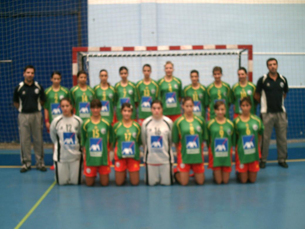 Selecção Junior C Feminina e Equipa Técnica 2007/08