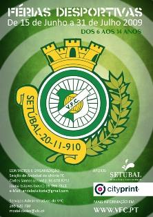 Cartaz Férias Desportivas 2009 - Vitória FC