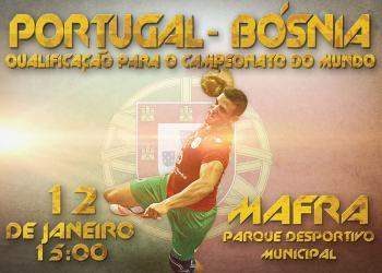 Cartaz Portugal - Bósnia - 12 Janeiro 2014