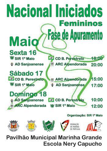 Cartaz Fase Apuramento do Campeonato Nacional de Iniciados Femininos