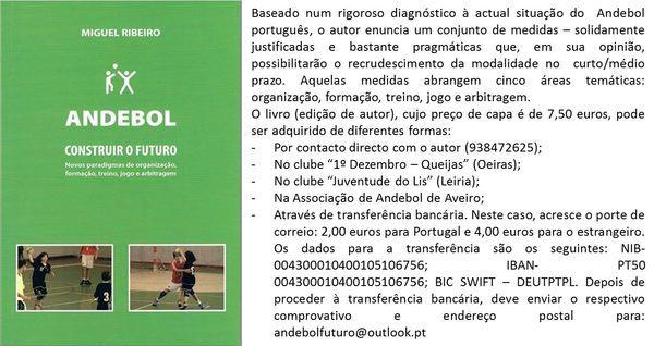 Informações livro Andebol - Construir o Futuro de Miguel Ribeiro