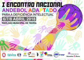 Cartaz I Encontro Nacional de Andebol para a Deficiência Intelectual