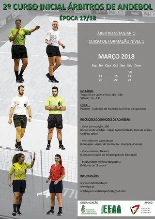 Cartaz 2º Curso Inicial de Árbitros Estagiários - AA Porto