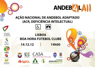 Cartaz Ação de Formação de Andebol Adaptado - Lisboa, 14.12.12