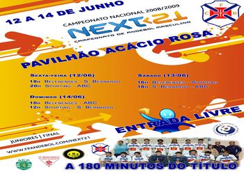 Fase Final Next21 CN 1ª Divisão Juniores Masculinos - 12 a 14.06.09