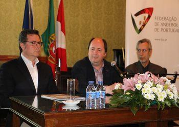 Augusto Silva, Pompeu Martins e Manuel Novais Ferreira no sorteio da Final4 das Taças de Portugal Masculina e Feminina