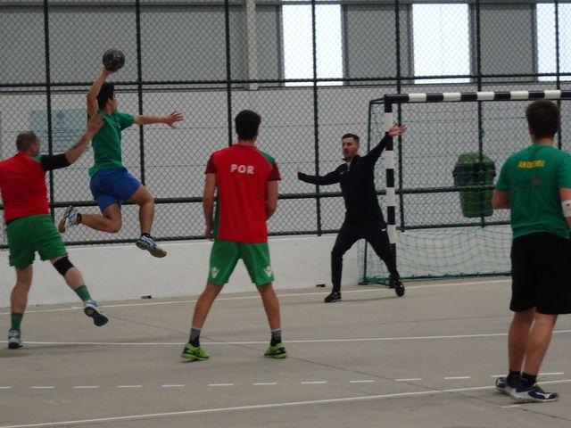 Estágio da Seleção Nacional Masculina de Andebol ANDDI/FAP - jogo-treino com Macieira
