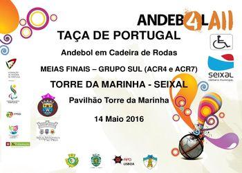 Cartaz Taça de Portugal - Andebol em Cadeira de Rodas - Grupo Sul