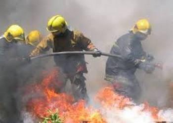 Bombeiros em acção