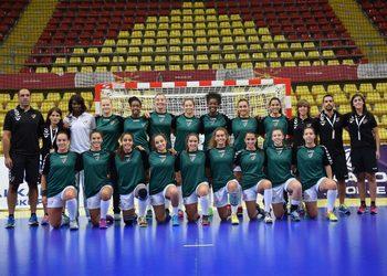 Seleção Nacional Sub17 - fem. - Europeu Macedónia -Foto equipa