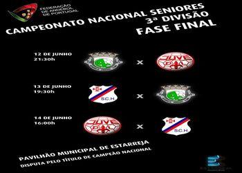 Cartaz Fase Final do Campeonato Nacional Seniores Masculinos 3ª Divisão