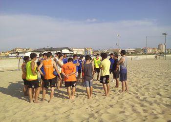 Treino da Selecção Nacional Andebol Praia Sub19 Masculinos