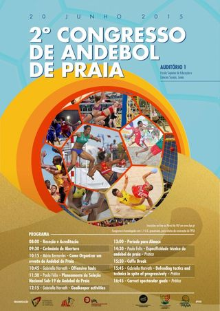 Cartaz 2º Congresso Andebol Praia
