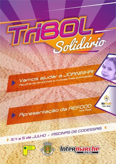 8º Torneio Tribol de Praia Cidade de Vila Real / Intermarché - Cartaz Tribol Solidário