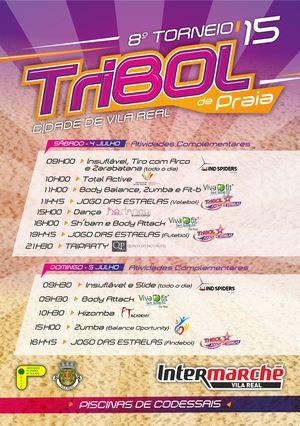 8º Torneio Tribol de Praia Cidade de Vila Real / Intermarché - folheto actividades